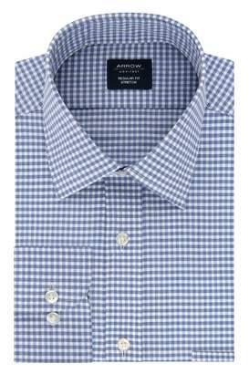Arrow Men's Dress Shirt Regular Fit Stretch Check