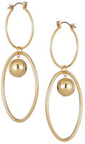 Expression Interlocking Hoop Drop Earrings