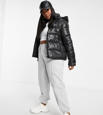Calvin Klein Jeans shiny puffer in black