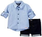 Hudson Dress Shirt & Short Set (Baby Boys)