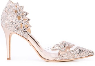Badgley Mischka rhinestone-embellished pumps