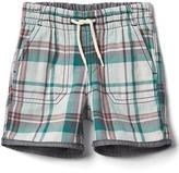 Gap Reversible plaid shorts