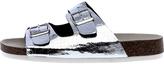Qupid Silver Birk Sandal