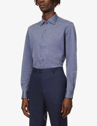 Corneliani Pindot cotton-jersey shirt
