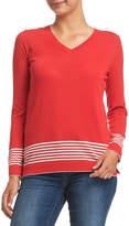 Sportscraft Desiree V Neck Stripe Knit