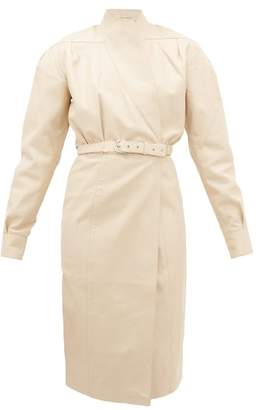 Dodo Bar Or Tony Belted Leather Wrap Dress - Womens - Ivory