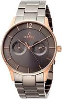 Obaku Men's V192GMVJSJ Casual Classic Multifunction Watch with 3 Hands