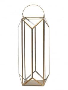 Nkuku Ndiki Lantern - Large - Glass/Brown