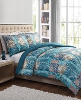 Pem America CLOSEOUT! Painted Patchwork 3-Pc. Full/Queen Comforter Set