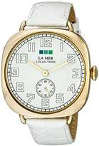 La Mer Signature LMOVW2038 White Gold Oversized Vintage Watch