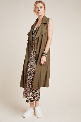 Anthropologie Hollis Tie Front Trench Vest