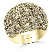 Bloomingdale's Brown Diamond Ombre Statement Ring in 14K Yellow Gold - 100% Exclusive