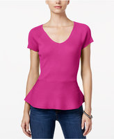 INC International Concepts V-Neck Peplum Sweater, Only at Macy's