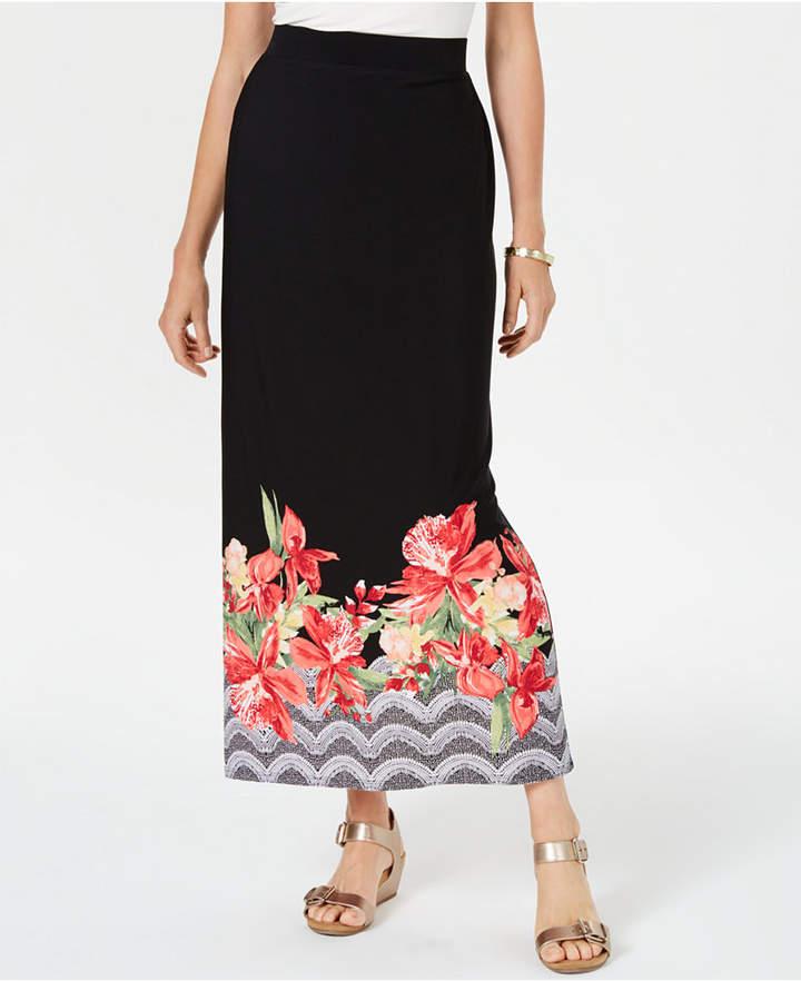 b06d4388b Tropical Print Maxi Skirt - ShopStyle