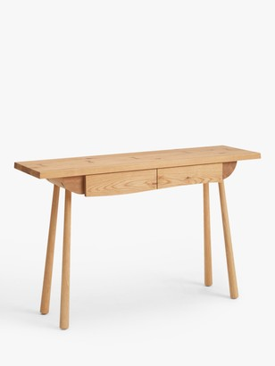 John Lewis & Partners Seam Console Table, Oak