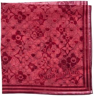Louis Vuitton Burgundy Silk Pocket Square
