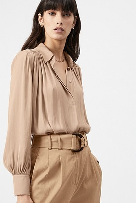 Witchery Gathered Yoke Blouse