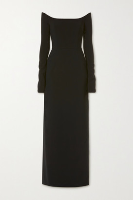 Carolina Herrera Off-the-shoulder Crepe Gown - Black