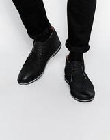 Frank Wright Barnet Leather Chukka Boots - Black