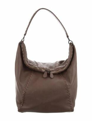 Bottega Veneta Cervo Leather Hobo Brown