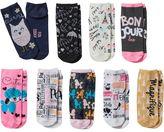 Pink Cookie Girls 9-pk. Glitter Print Low-Cut Socks