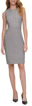 Calvin Klein Petite Plaid Sheath Dress