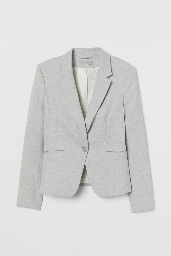 Thumbnail for your product : H&M Fitted Blazer - Gray