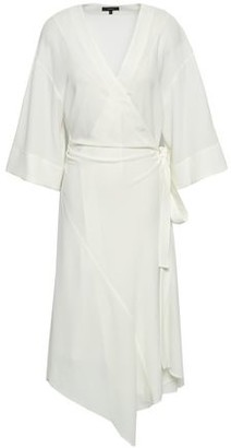 Theory Crepe Midi Wrap Dress