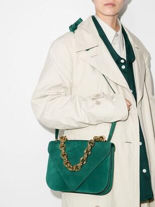 Bottega Veneta Green Mount Suede Shoulder Bag