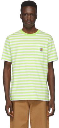 Carhartt Work In Progress Green and White Scotty Pocket T-Shirt