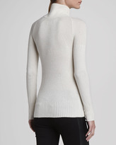 Burberry Ribbed V-Neck Cashmere Sweater