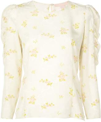 Brock Collection floral sleeve detail shirt