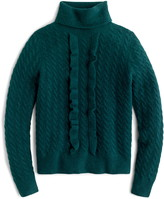J.Crew Supersoft Ruffle Front Turtleneck