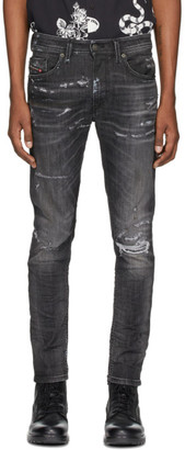 Diesel Black Denim Thommer 0098E Jeans