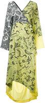 Diane von Furstenberg printed wrap dress - women - Silk - L