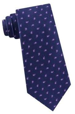 Michael Kors Outlined Pine Neat Printed Silk Tie