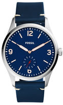Fossil Vintage 54 Stainless Steel and Leather Strap Watch, FS5246