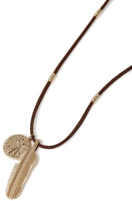Topman Gold Feather Necklace*