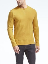 Banana Republic Cotton-Linen Long-Sleeve Crew