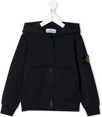 Stone Island Junior Zip-Up Hoodie