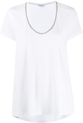 Brunello Cucinelli micro bead detailing T-shirt
