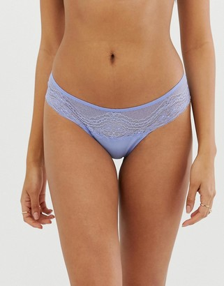 Vanity Fair french lace boxer-Blue