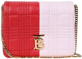 Burberry Small Red And Pink Lola Bag