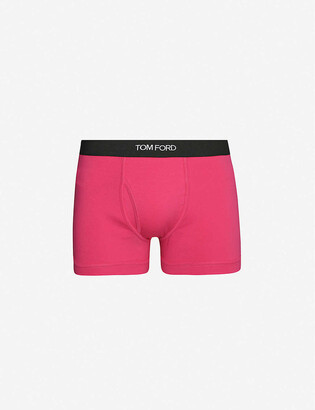 Tom Ford Logo-embroidered cotton-blend jersey boxers