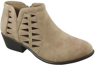 Top Moda Women's Casual boots Khaki - Khaki Cutout Gary Bootie - Women