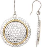 Lucky Brand Openwork Filigree Circle Drop Earrings