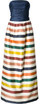 Carolina Herrera bustier striped gown - women - Silk/Cotton - 2