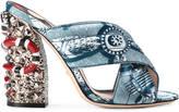 Gucci Romain satin crossover sandal