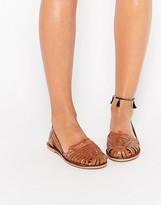 Boohoo Leather Huarache Shoes