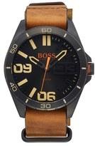 BOSS ORANGE Men's 'Berlin' Leather Strap Watch, 50Mm
